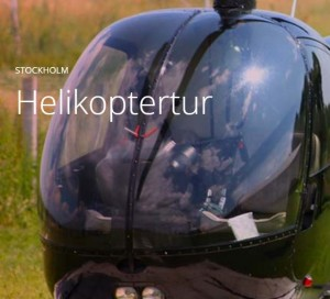 helikopter upplevelse stockholm