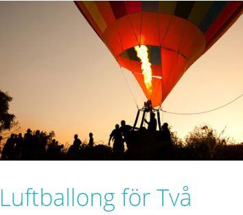 Åka luftballong två personer