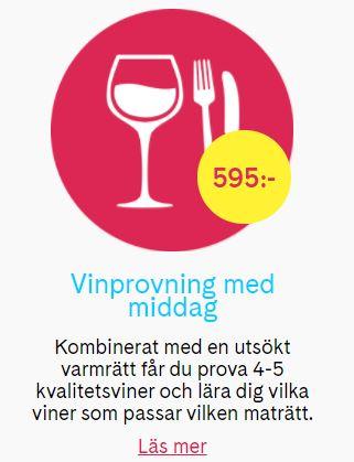 presentkort Vin och middag