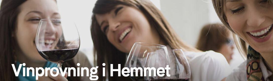 Ha vinprovning hemma hos sig själv