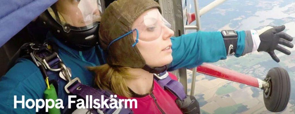 Flyga fallskärm Stockholm presentkort