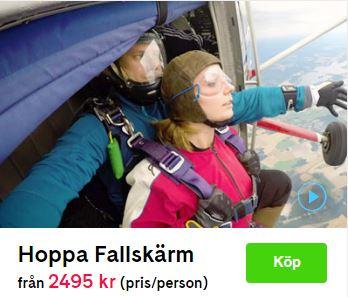 Tandemhopp presentkort stockholm