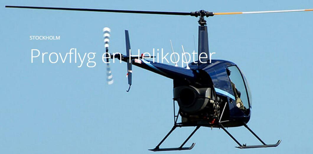 Provflyga helikopter i Stockholm