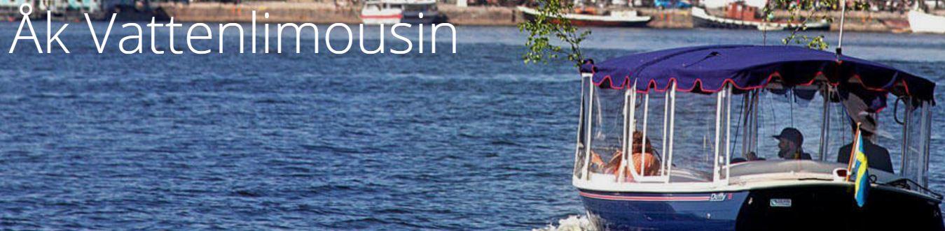Åka vattenlimousine i Stockholm