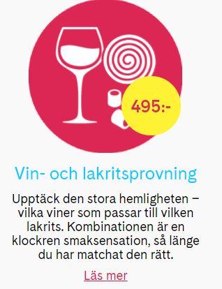 vin och lakritsprovning