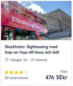 hop on hop off båt buss ruta