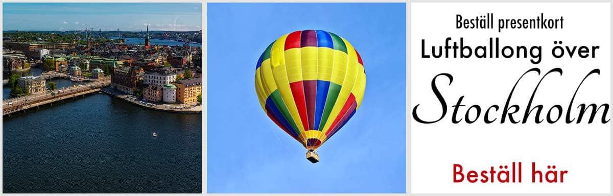 åka luftballong över stockholm
