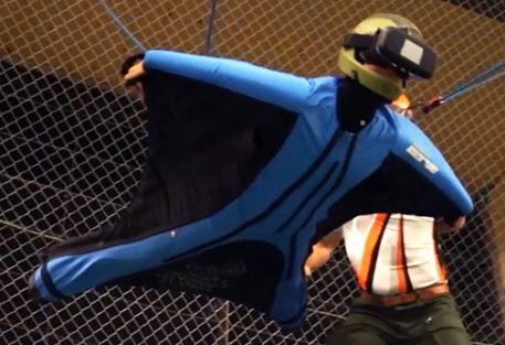 wingsuit med vr glasögon